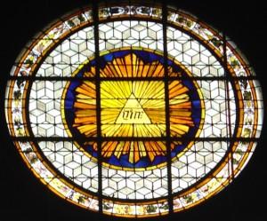 Le Tétragramme - Vitrail de l'église Saint-Germain-des-Prés - Paris