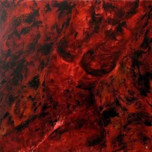 """Peinture de """"VALOU"""" - """"Le corps, une quête perpétuelle"""" - 2013 - Lumière de Jade"""