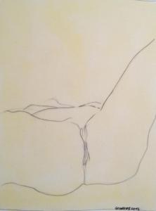 """""""Après la fin des origines"""", dessin de Delphine Courtois - Delphine expose """"Chez Betty"""" - 75020 Paris - http://www.delphinecourtois.free.fr/"""