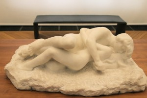 """Marbre """"In finito"""" d'Auguste Rodin - Amour et Psyché - Vers 1885"""