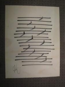Dessin : Abidin DINO (1913 - 1993) - COMPOSITION - Dessin à l'encre sur papier