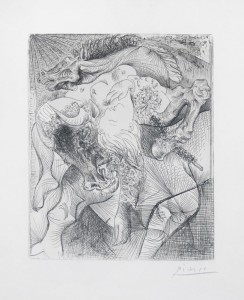 Gravure : Pablo Picasso, Femme Torero, II - 1934