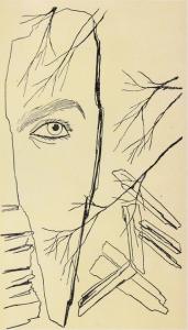 """Dessin de TOYEN - Illustration du livre de Romain Rolland """"Jan Kryštof"""" - 1948"""