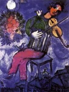 """""""Le violoniste bleu"""" de Marc Chagall"""