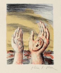 """La troisième oreille"" - Linogravure - Olivier O Olivier"